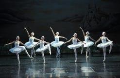Stretching-ballet Swan Lake Royalty Free Stock Photos