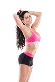 Stretching beautiful fitness sexy woman Stock Images
