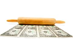 Stretching The Dollar Royalty Free Stock Image