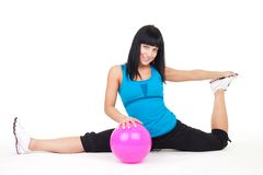 Stretching exercise Royalty Free Stock Photography
