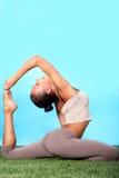 Stretching exercise Royalty Free Stock Image