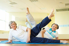 Stretching exercise Stock Image