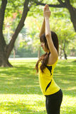 Stretching Exercise Royalty Free Stock Images