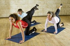 Stretching Exercise On Mat Stock Photos