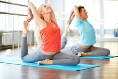 Stretching exercise Stock Photography