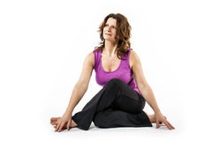 Stretching exercise of woman Stock Image
