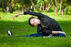 Stretching exercise. Yoga Royalty Free Stock Images