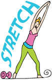 Stretching Exercises Royalty Free Stock Photos