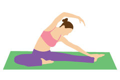 Stretching exercises. Woman doing yoga or pilates. Stretching exercises Royalty Free Stock Photos