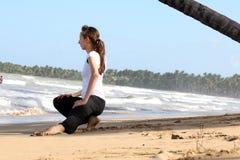 Stretching exersises stock photos