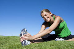 Stretching before Fitness & Exercise Royalty Free Stock Photo