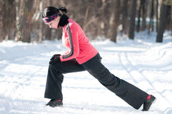 Stretching fitness exercise Stock Photography