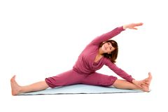 Stretching girl Stock Image
