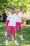 Stretching girls Royalty Free Stock Photography