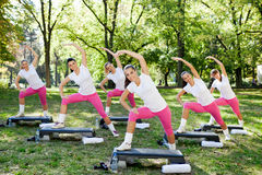 Stretching  group Royalty Free Stock Photo