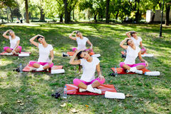 Stretching group Royalty Free Stock Photos