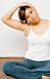 Stretching In Gym Royalty Free Stock Photos