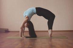 Stretching gymnast Royalty Free Stock Image