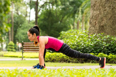 Stretching legs in the park Royalty Free Stock Photography