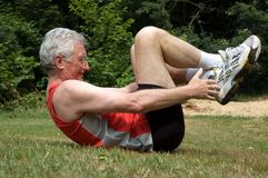 Stretching Man Royalty Free Stock Photo