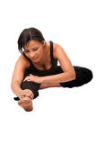 Stretching muscles before workout royalty free stock images