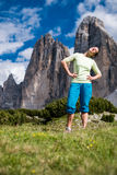 Stretching in the nature Royalty Free Stock Photography