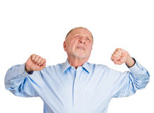 Stretching older man Royalty Free Stock Images