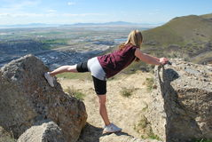 Stretching Over the City Royalty Free Stock Images
