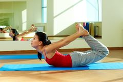 Stretching practice Royalty Free Stock Images