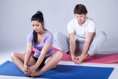 Stretching rehabilitation exercises Royalty Free Stock Image