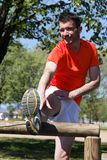 Stretching runner Stock Image