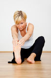 Stretching sport Stock Photo