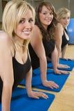 Stretching Trio Stock Image