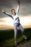 Stretching woman Stock Photography