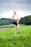 Stretching woman Stock Photos