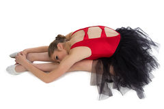 Stretching of young ballerina Stock Photography