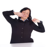 Stretching young businesswoman Stock Image