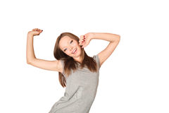 Stretching young woman Stock Photography