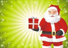 Stretta del Babbo Natale il regalo illustrazione vettoriale