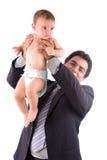 Stretta dell'uomo un bambino Immagini Stock Libere da Diritti