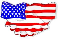 Stretta di mano americana Fotografia Stock Libera da Diritti