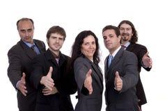 Stretta di mano d'offerta della squadra di affari Immagine Stock Libera da Diritti