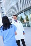 Stretta di mano del gruppo di medici Fotografie Stock Libere da Diritti