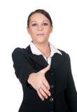 Stretta di mano dell'donne di affari Immagini Stock Libere da Diritti