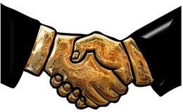 Stretta di mano dell'oro Immagine Stock Libera da Diritti
