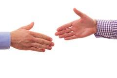 Stretta di mano fra due uomini d'affari, in studio Fotografie Stock