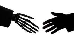 Stretta di mano mortale Immagini Stock