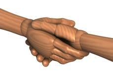 Stretta di mano, stringendo le mani, stipulanti un contratto Fotografia Stock Libera da Diritti
