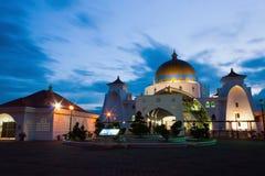 Stretti moschea, Malesia del Malacca Fotografia Stock Libera da Diritti