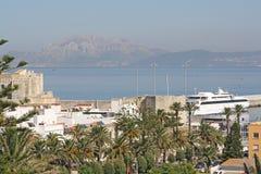 Stretto di Gibilterra; due continenti Fotografie Stock